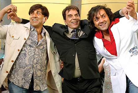 Sunny Deol, Dharmendra Deol,Bobby Deol