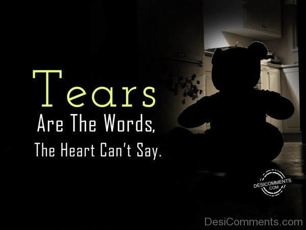 Tears Are The Words The Heart Can't Say