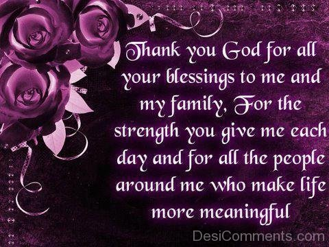 Thank You God For All Your Blessings