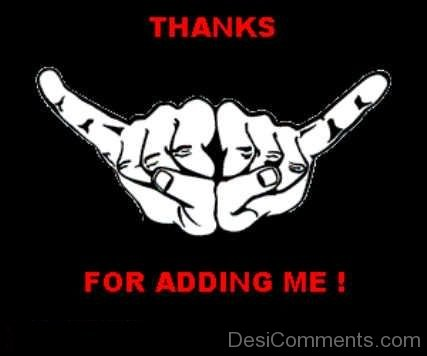Thanks for Adding Me - Hands
