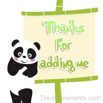 Thanks for Adding Me - Panda