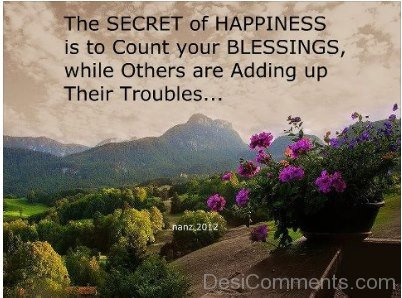The Secret Of Happines