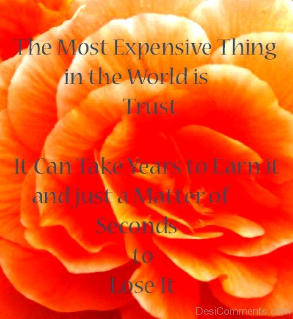 The most expensive thing in the world is trust-DC0p6082