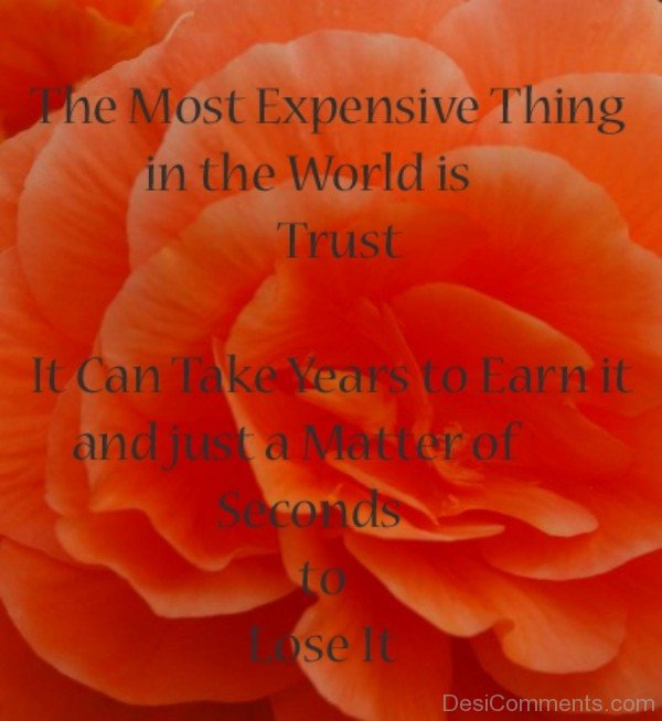 The most expensive thing in the world is trust-DC59