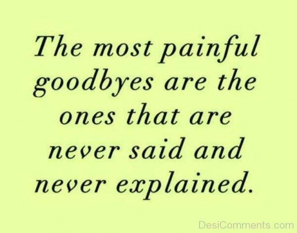 The most painful good bye-DC60