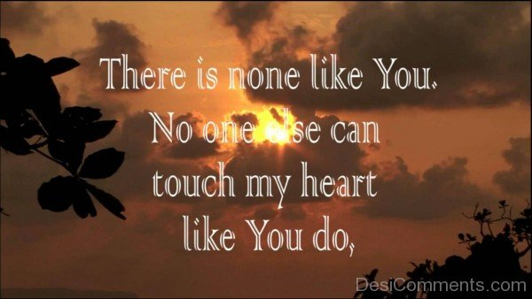 There Is No One Like You Image-DC1DC41
