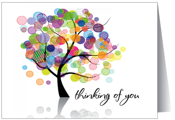 Thinking Of You Colourful Tree Image-twq138desi60