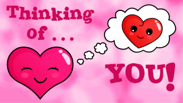 Thinking Of You Hearts Picture
