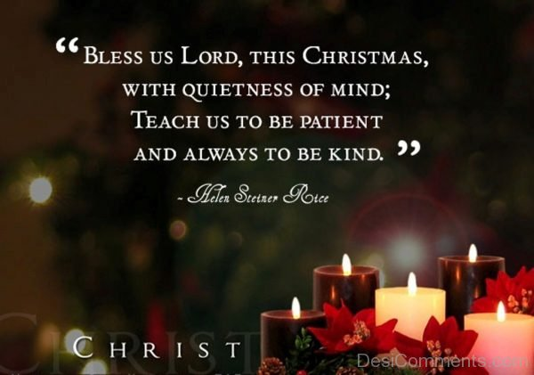 This Christmas With Quietness Of Mind