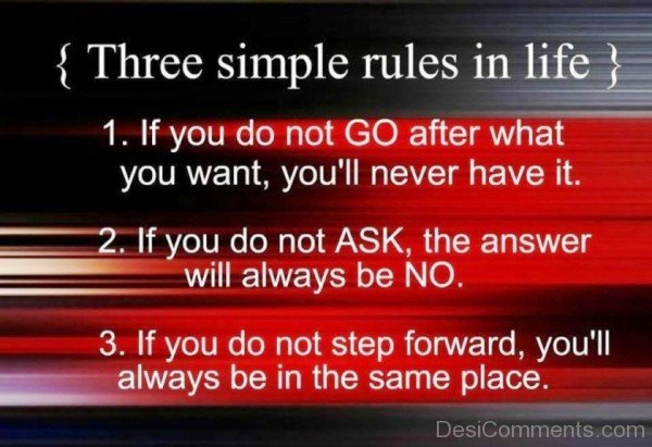 Three simple rules in life-dc018126