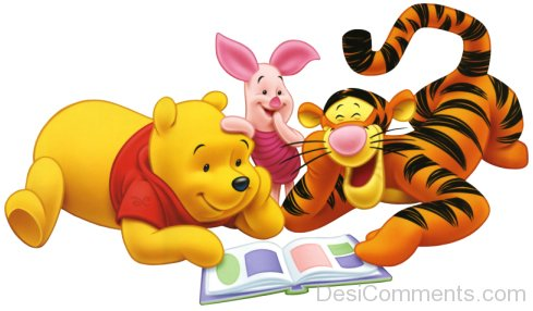 Tigger,Pooh And Piglet Reading Book-DESI6093