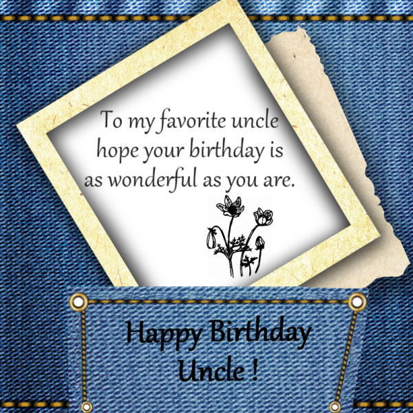 To My Favorite Uncle