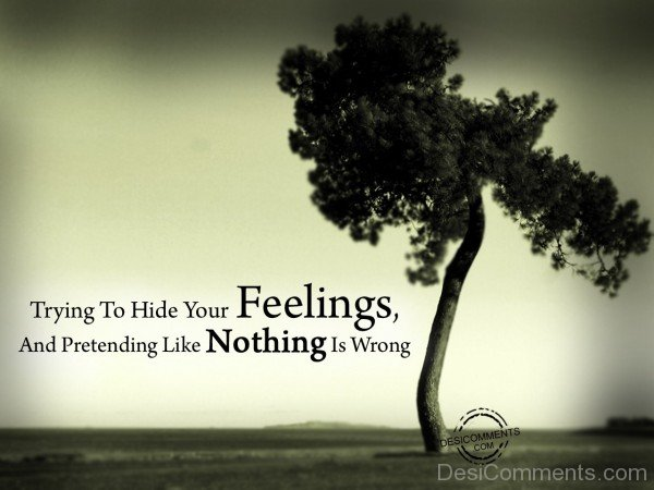 Picture: Trying To Hide Your Feelings