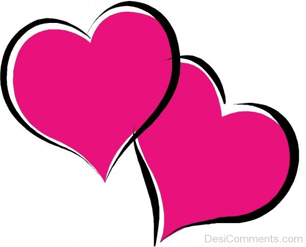 Two Pink Hearts Picture- DC 02172