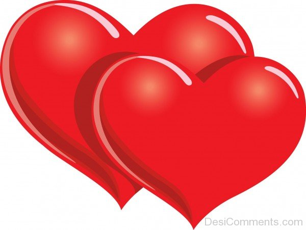 Two Red Hearts Image- DC 02174