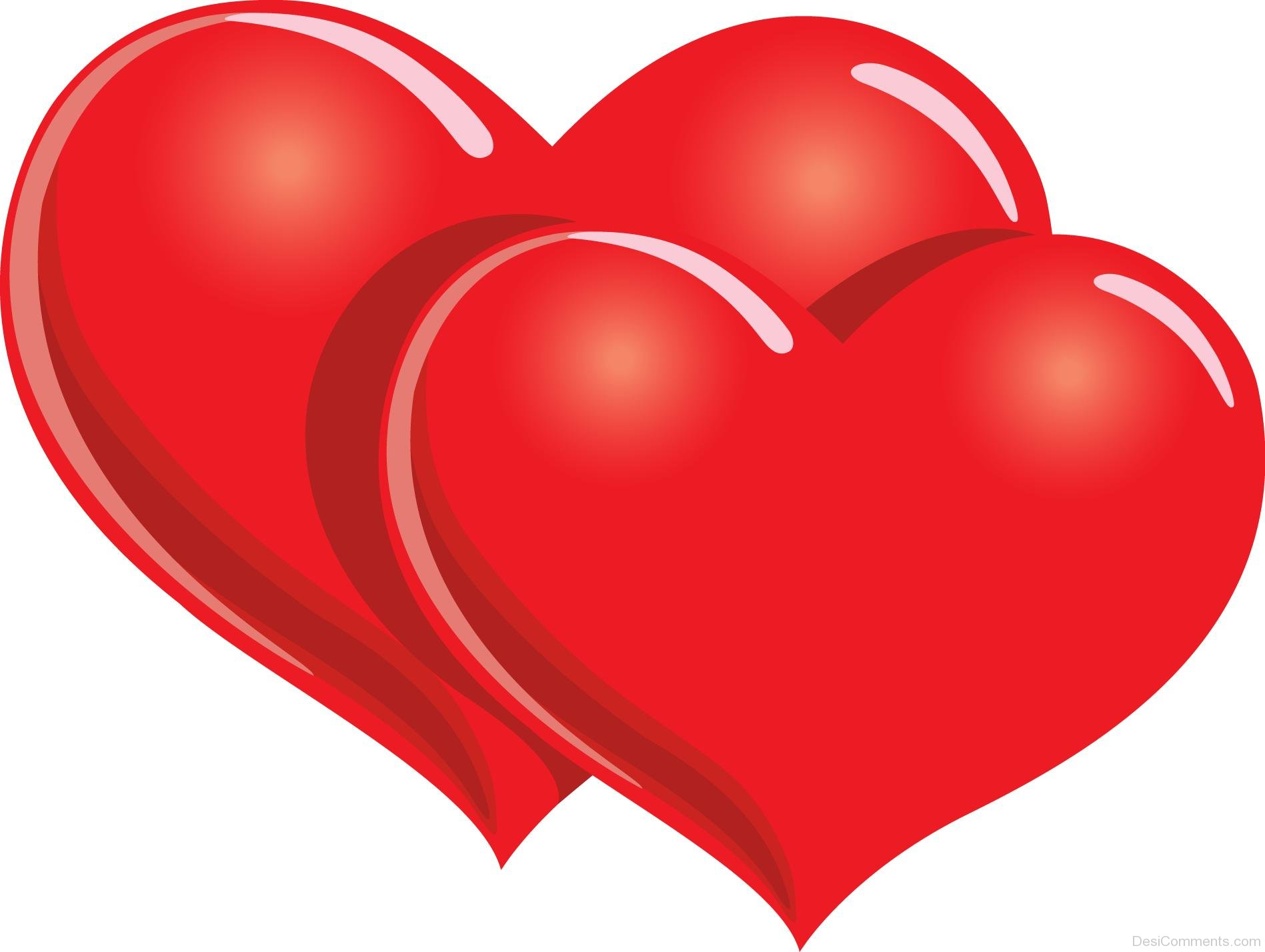 Two red hearts image desicomments com