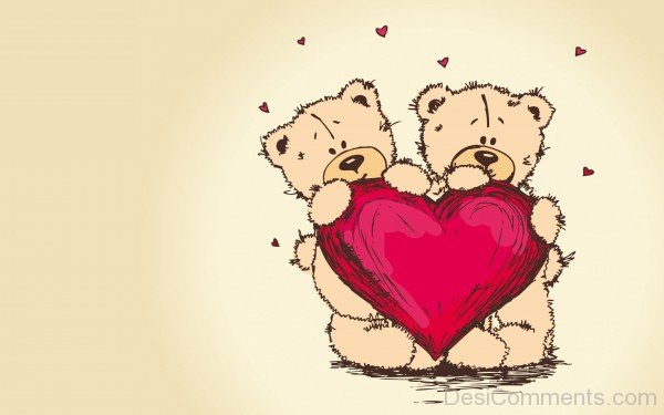 Two Teddy With Heart- DC 02175