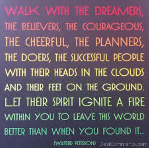 Picture: Walk With The Dreamers