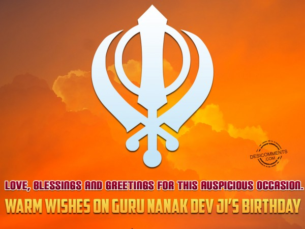 Warm Wishes On Guru nanak dev Ji's Birthday