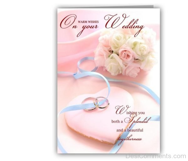 Warm Wishes On Your Wedding