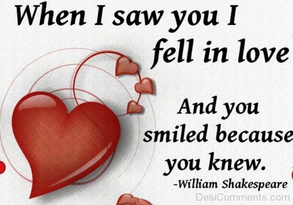When I Saw You I Fell In Love - DC447