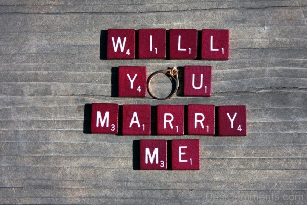 Will You Marry Me Golden Ring Picture