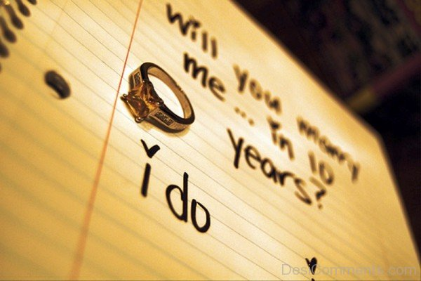 Will You Marry Me In Ten Years