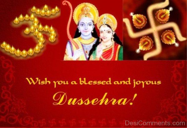 Wish You A Blessed And Joyous Dussehra!-DC0231