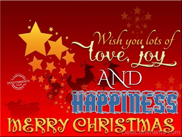 Wish you lots of love, joy and happiness