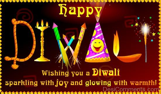 Wishing You A Diwali Sparkling With Joy And Glowing With Warmth-DC936DC08