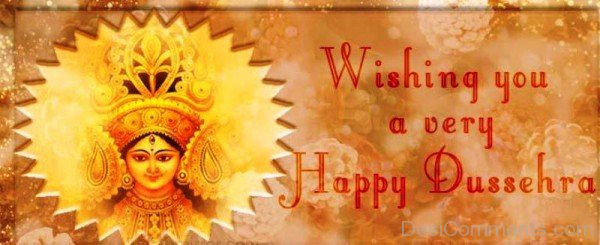 Wishing You A Very  Happy Dussehra-DC0235