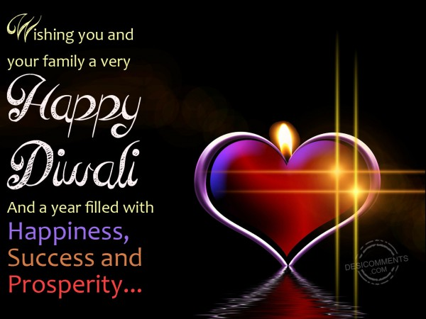 Wishing you and your family a very happy diwali