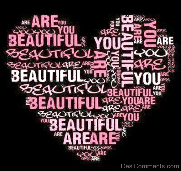 You Are Beautiful Heart Image-ybe2060DC066