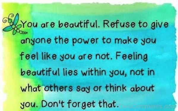 You Are Beautiful,Refuse To Give-DC105