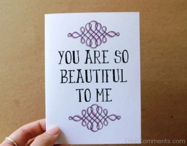 You Are So Beautiful To Me Image-DC120