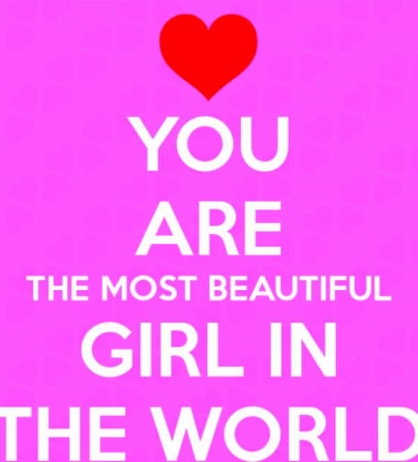 You Are The Most Beautiful Girl In The World-DC126