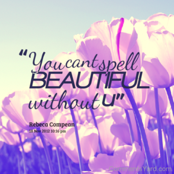 You Can't Spell Beautiful Without You-DC134