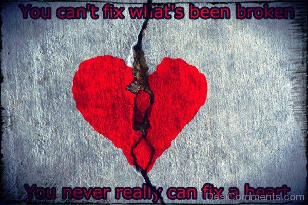 You Never Really Can Fix A Heart