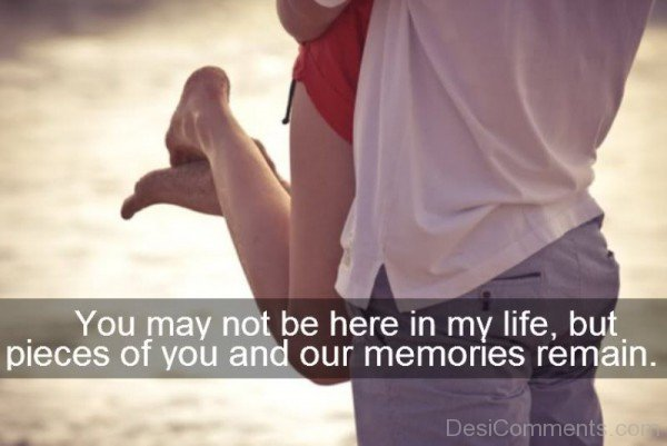 You may not be here in my life-DC77