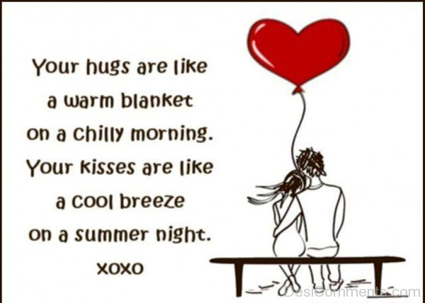 Your Hugs Are Like A Warm Blanket- dc 77113