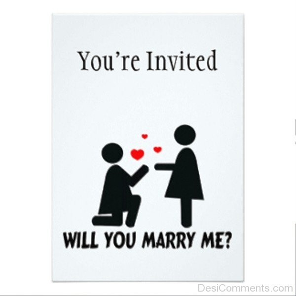 You're Invited Will You Marry Me