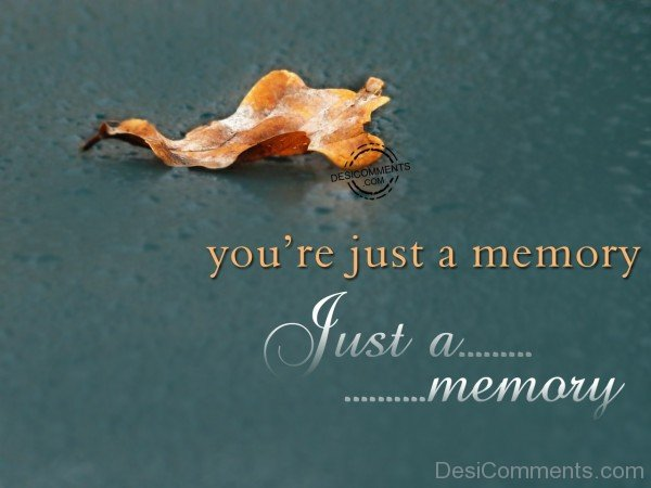 You're Just A Memory