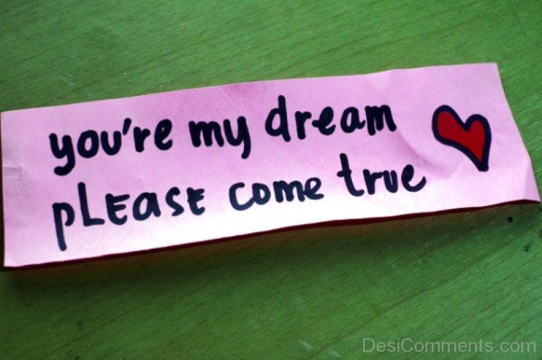 You're My Dream Please Come True