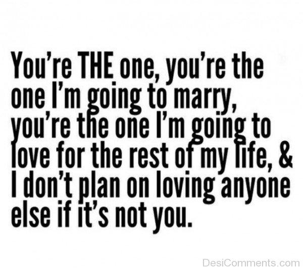You're The One I'm Going To Marry-ry625DC01017