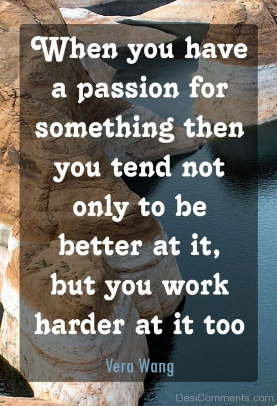 have passion for something
